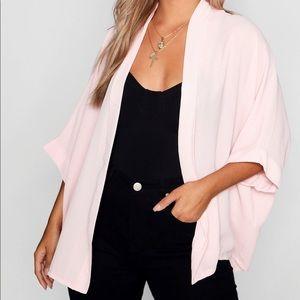 Boohoo Pink Oversized Kimono